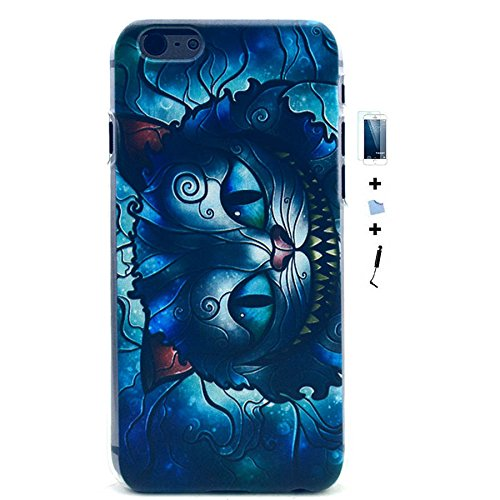 TIODIO® 4 en 1 Etuis Case Protecteur Hard Arrière Housse Coque Etui Case Cover pour Apple iphone 6S Plus /iPhone 6 Plus housse étui case cover, Stylus et Film protecteur inclus, B06 B38