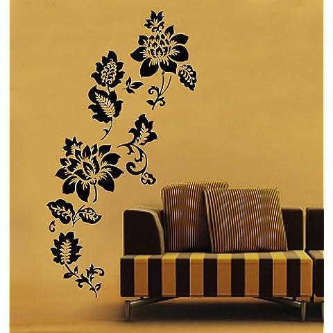 Instylewall Home Decorazione murale adesiva per il muro, in vinile, motivo: fiori rosa con decorazione a forma di cuore per bambini, decalcomania da parete per cameretta carta, Instyle8002-multi-I, 50*70 - Inspirational Cuore