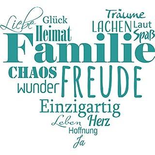 GRAZDesign 300207_30_WT054 Wandtattoo Familien   Tattoo Als Herz An Die  Wand   Wand Deko Für