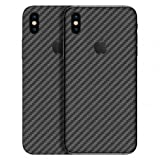 #4: GADGETS WRAP Apple iPhone X Exclusive Grey Carbon Skin D10A1