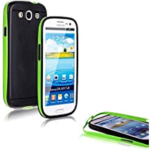 CoolGadget PREMIUM Tasche Hybrid Case - Hülle für Samsung Galaxy S3 / S3 Neo in Grün