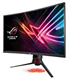 Asus ROG Strix XG32VQ 81,28 cm (32 Zoll) Monitor (Curved, WQHD, 144Hz, HDMI, DisplayPort, Mini-DP, 4ms Reaktionszeit) dunkelgrau/rot