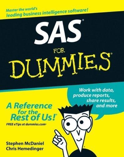 SAS For Dummies 1st edition by Stephen McDaniel, Chris Hemedinger (2007) Paperback