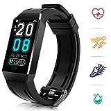 COULAX Fitness Tracker, Fitness Armband Wasserdicht IP68 mit Pulsmesser SmartWatch 1.14 Zoll Farbbildschirm Aktivitätstracker Pulsuhren Schrittzähler Uhr Kalorienzähler Smart Watch Uhr Herren Damen