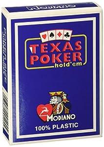 Modiano 2 de Texas Poker Índice Jumbo Azul - Tarjetas de Texas Poker
