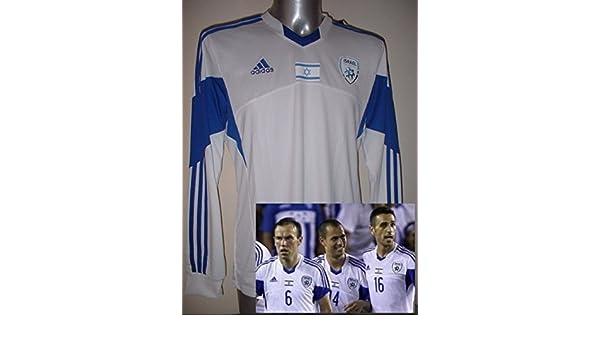 d1361869ca2 Israel Adidas Adult Large BNWT New Shirt Jersey Football Soccer Trikot  Maglia Long Sleeves  Amazon.co.uk  Sports   Outdoors