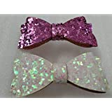 My Party Store DOT COM Cute Stylish Bow Shape Princess Hair Clips For Girls/Kids (Pack Of 2) For Durga Pooja, KANJAK, Navratri, Birthdays And Parties (MULTI1)