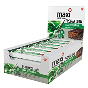 Maximuscle Promax Lean 60 g Dark Choc Mint Weight Loss and Definition Bars - Box of 12