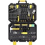 Werkzeugsatz, Universale Werkzeugkoffer, 127 stück steckschlüssel-werkzeugsatz auto reparatur mischwerkzeug kombination paket hand tool kit mit kunststoff toolbox aufbewahrungskoffer