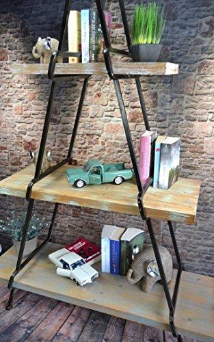 Industrial Standregal Raumteiler aus Metall und Holz
