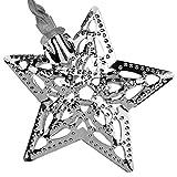 Lichterkette batteriebetrieben außen und innen Kette mit Sterne Beleuchtung LED Sterne warmweiß Dekoration für Wohnung, Garten, Terrasse, Haus, Feier