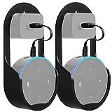 GMYLE Echo Dot 2 Wandhalterung Halter Halterung Ständer für Amazon Alexa Echo Dot 2nd Generation, Ohne Schrauben oder Klebstoff, Kompakte Schutzhülle mit Ladekabel (2 Stück)