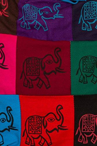 ThaiUK, Borsa a spalla donna multicolore Om large Elephant