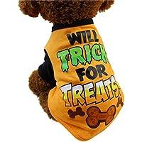 Haustierkleidung,Nettes Hundekleidung Haustier Cool Halloween t-Shirts Kleidung Small Puppy Kostüm von Sannysis