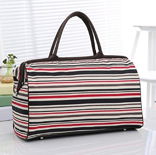 ZC&J Outdoor große Kapazität tragbare Wander-Reise Freizeit Gepäck Tasche Oxford Tuch wasserdichte feste tragbare Männer und Frauen allgemeine Handtasche A3