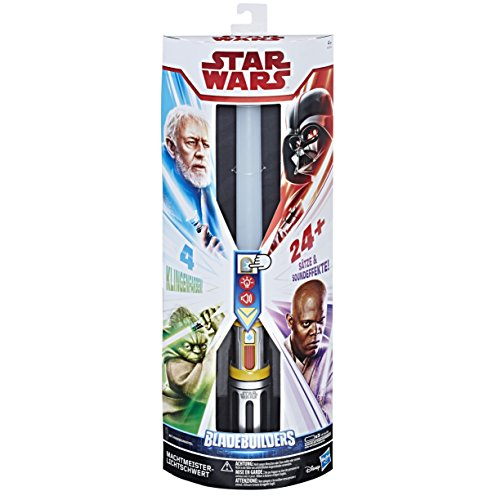 Kostüm Mace Windu Kind - Hasbro Star Wars E2512100 Star Wars Meister der Macht Lichtschwert, Verkleidung, Jungen