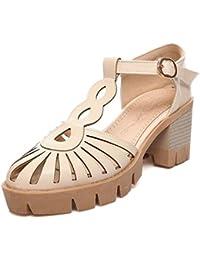 Coolcept Mujer Chunky Tacon Sandalias Zapatos  Zapatos de moda en línea Obtenga el mejor descuento de venta caliente-Descuento más grande