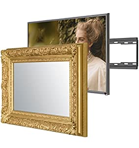 Handmade Framed Mirror TV with Samsung X to Blend This Hidden Mirrored Television into Your Home or Business Decor