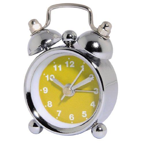 Hama analoger Wecker Nostalgie (Mini Glockenwecker mit lautem Alarm) gelb