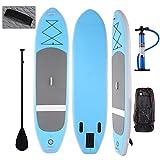 ULTREY SUP-Board Surfboard Aufblasbares Stand Up Paddle Board, iSUP 305 x 76 x 15 cm Board mit verstellbaren Paddel und Doppelhub-Pumpe und guter Rucksack