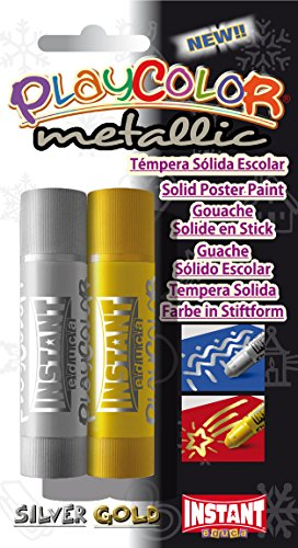 PlayColor Farbe 1039110g Metallic One Solid Poster Paint Stick (2Stück) (Holz Applikator-sticks)