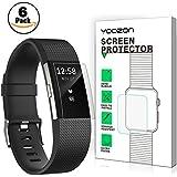 Fitbit Charge 2 protection écran [6 Pièces], Yoozon Clear PET HD invisible protecteur d'écran [sans peeling] [couverture complète] [sans bulles] pour Fitbit Charge 2, Garantie à vie