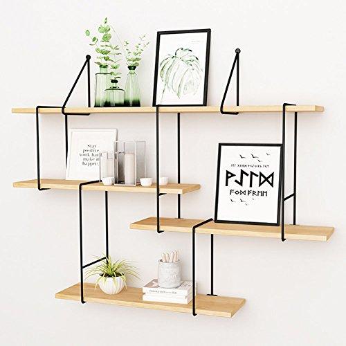 QIANDA Wandregal Schweberegal 4 Stufen DIY Bücherregal Küchenregal Kombination an der Wand...