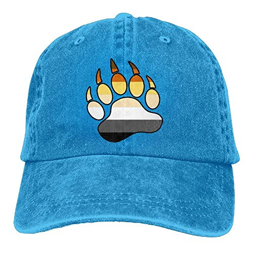 WBinHua Hüte, Mützen, Unisex Kappe/Baseballkappe, Unisex Trucker Cap, Thirteenkeke Gay Bear Pride Paw Unisex Denim Bucket Hat Baseball Dad Cap -