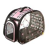 pinmei Colorful Lovely Stilvolle Faltbox Reisetasche Cat Hund Box Schulter Handtasche mit Fleece-Matte