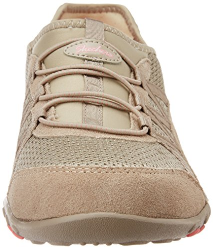 Skechers - Breathe-easy relaxation, Sneaker Donna Grigio (Grau (Tpe))