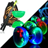 Diabolo Cyclone Quartz Juggle Dream - Diabolo Freiläufer Kombi-Set mit