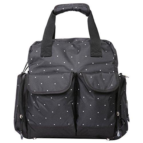 Preisvergleich Produktbild Eshow Polyster Wickeltasche Mummy Bag Mama Tasche Baby Handtasche Umhängetasche Multifunktional, Schwarz
