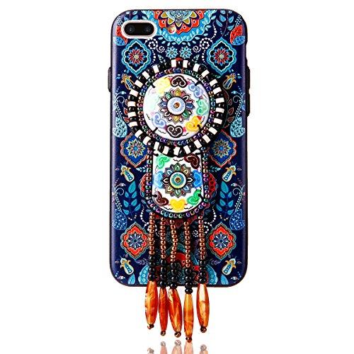 """iPhone 7Plus Hülle, iPhone 7Plus Handytasche CLTPY Premium Weich Silikon Case, Luxury Bunt Vintage Jewelry Handmade Schale Etui für 5.5"""" Apple iPhone 7Plus (Nicht iPhone 7) + 1 x Stift - Retro Totem 1 Retro Totem 4"""