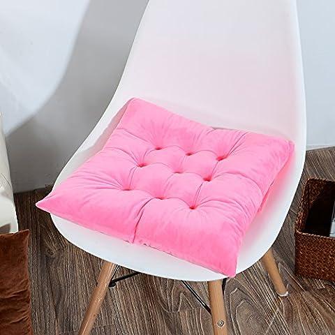Crystal Samt Office Home Speisen Kissen Winter Warm Student Stuhl Kissen, 40 X 40 Cm, Pink