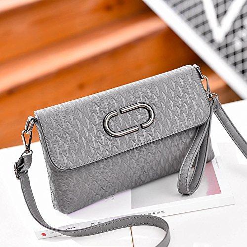 LiZhen Ms. flussi di pacchetti la nuova Europa e il design elegante e il temperamento versatile pacchetto a mano singola Mini borsa a tracolla è un piccolo pacchetto di autunno O di grigio confezione regalo