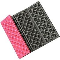TiooDre - Asiento Plegable de Espuma para Exteriores, Impermeable, Cojín para Silla de Acampada o Jardín, Color Rojo