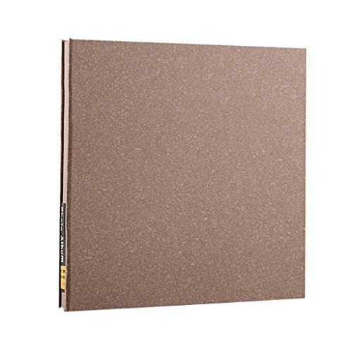 FOOHAO- Albums photo avec des pages collantes, 20 pages (40 Surface), album photo bricolage fait à la main minimaliste, couverture vierge (Couleur : White card)