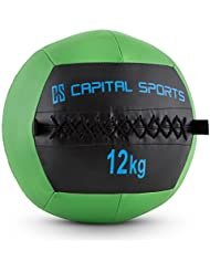 Capital Sports Wallba - Wall Ball, medecine ball en cuir synthétique pour exercices core et entrainement fitness, cross-training, musculation, MMA…