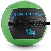 Capital Sports Epitomer • Medizinball • Wall Ball • Fitness Ball • Krafttraining • Ausdauertraining • Functional Training • vernähtes Kunstleder • griffige Oberfläche • Studio Qualität • verschiedene Farben • verfügbare Gewichte: 4 kg - 14 kg