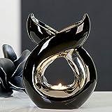 Brûle-parfum 'Lago', couleur noir