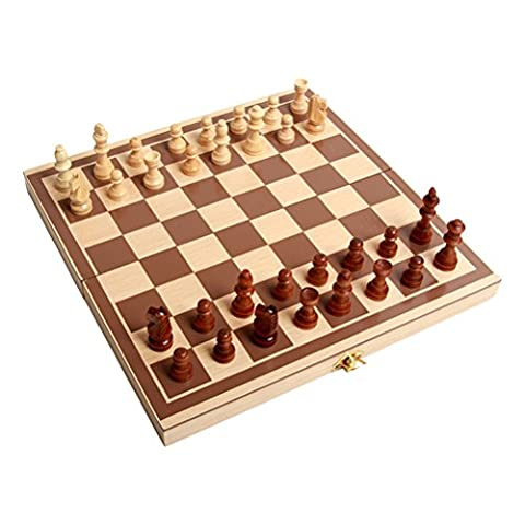 Zhuhaitf Jouets pour enfants Funny Wooden Childrens Kids Adults Magnetic Chess Sets and Board Toys
