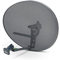 Sky Satellites Zone 2 Satellite Dish & Quad Lnb for Sky / FreeSat / Hotbird / Astra/ Polesat