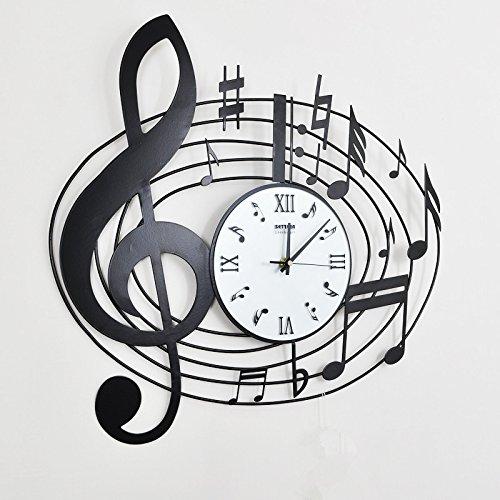 FortuneVin Wanduhr Bad Wanduhr mit Wanduhren lautlosem Uhrwerk Kein nerviges Ticken Stilvoll Kreative Akzente Bügeleisen Mute Music Room Wall Art Tabelle. (Kinder-akzent-tabelle)