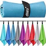 ActiDry Asciugamano in Microfibra - leggero e assorbente - 9 colori - S M L XL taglie - Telo ideale per spiaggia, bagno, palestra, nuoto, yoga e sport - M (70 x 140 cm) 1 pezzo - blu