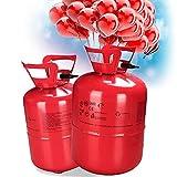Vgo... Helium Ballongas 400 Liter inkl. 50 Bunte Latexballons XXL für Hochzeiten Party, Feier, Geburtstag, Festival