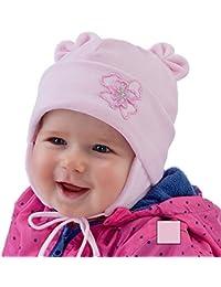 Nuevo bebé niña sombrero niñas gorra de terciopelo cálido gorro de bautizo bautismo 0-18meses