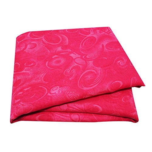 PEEGLI Jahrgang Gedruckt Sari Rosa Seide Mischung DIY Recycelt Vorhang Drapieren Stoff Indischen Saree (Rosa Sari Seide)