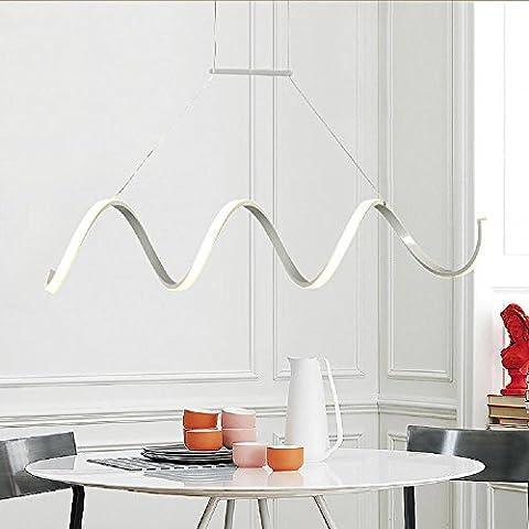 YUPX Lampadario Curva lampadario LED personalità creativa di in stile scandinavo ristorante bar lampada luce super bright promessa lampadari Lampada sospensione da soffitto