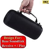 #2: Taslar EVA Box Shockproof Bag Travel Carrying Case Cover for Bose SoundLink Revolve + Plus (Black)