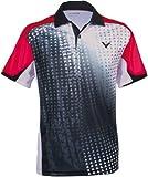 Victor Poloshirt Indonesia, Schwarz/Rot/Weiß, M, 639/0/6